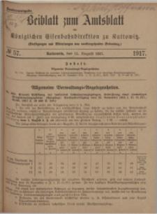Beiblatt zum Amtsblatt der Königlischen Eisenbahndirektion zu Kattowitz, 1917, nr57