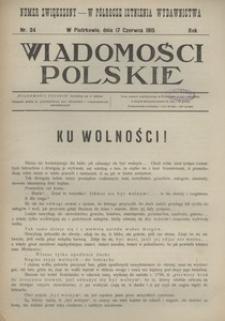 Wiadomości Polskie, 1915, R. 1, nr 34