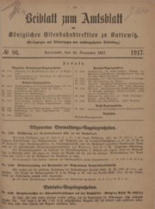 Beiblatt zum Amtsblatt der Königlischen Eisenbahndirektion zu Kattowitz, 1917, nr96
