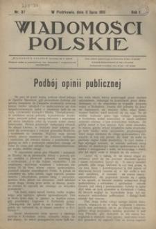 Wiadomości Polskie, 1915, R. 1, nr 37