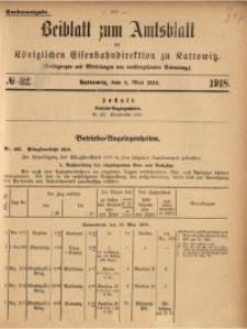 Beiblatt zum Amtsblatt der Königlischen Eisenbahndirektion zu Kattowitz, 1918, nr32