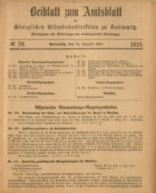 Beiblatt zum Amtsblatt der Königlischen Eisenbahndirektion zu Kattowitz, 1918, nr59