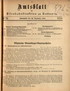 Amtsblatt der Königlichen Eisenbahndirektion zu Kattowitz, 1919, nr79