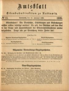 Amtsblatt der Königlichen Eisenbahndirektion zu Kattowitz, 1920, nr11