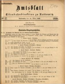 Amtsblatt der Königlichen Eisenbahndirektion zu Kattowitz, 1920, nr27