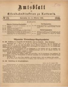 Amtsblatt der Königlichen Eisenbahndirektion zu Kattowitz, 1920, nr73