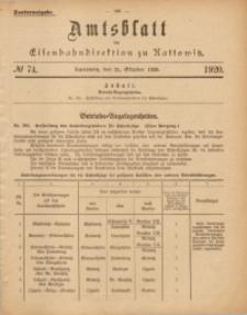 Amtsblatt der Königlichen Eisenbahndirektion zu Kattowitz, 1920, nr74