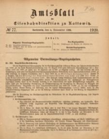 Amtsblatt der Königlichen Eisenbahndirektion zu Kattowitz, 1920, nr77