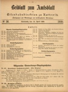 Beiblatt zum Amtsblatt der Königlischen Eisenbahndirektion zu Kattowitz, 1920, nr36