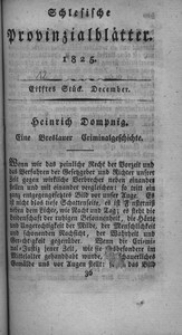 Schlesische Provinzialblätter, 1825, 82. Bd., 12. St.: December