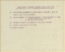 Posiedzenie Zarządu Związku dn. 31 maja 1924