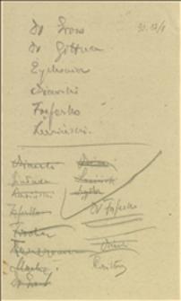 Notatki i materiały Nadzwyczajnego Zgromadzenia Delegatów Okręgowego Związku Kas Chorych w Krakowie w dniu 30.09.1923 r.
