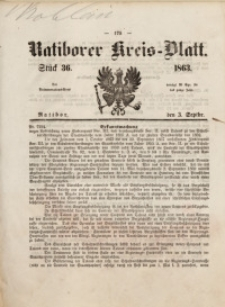Ratiborer Kreis-Blatt, 1863, Stück 36