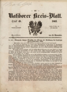 Ratiborer Kreis-Blatt, 1863, Stück 48