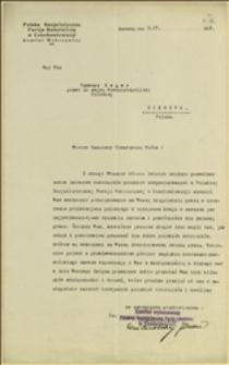 List Komitetu Wykonawczego Polskiej Socjalistycznej Partii Robotniczej w Czechosłowacji - Karwina, 05.04.1932 r.