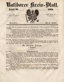 Ratiborer Kreis-Blatt, 1865, Stück 38