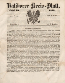 Ratiborer Kreis-Blatt, 1865, Stück 40