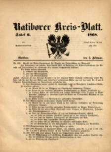 Ratiborer Kreis-Blatt, 1868, Stück 6