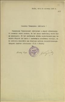 Życzenia urodzinowe dla Tadeusza Regera nadesłane przez OKR PPS w Białej - Biała, 30.06.1932 r.