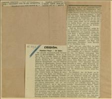 """Wycinek z """"Volkspresse"""" o jubileuszu Tadeusza Regera - Opawa, 05.07.1932 r."""