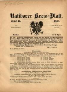 Ratiborer Kreis-Blatt, 1868, Stück 15