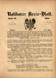 Ratiborer Kreis-Blatt, 1868, Stück 27
