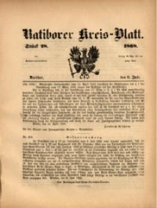 Ratiborer Kreis-Blatt, 1868, Stück 28
