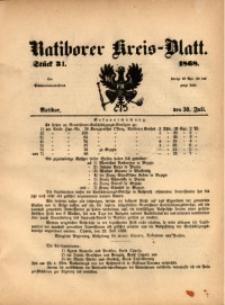 Ratiborer Kreis-Blatt, 1868, Stück 31