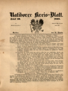 Ratiborer Kreis-Blatt, 1868, Stück 39