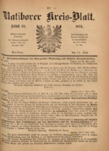 Ratiborer Kreis-Blatt, 1874, Stück 24