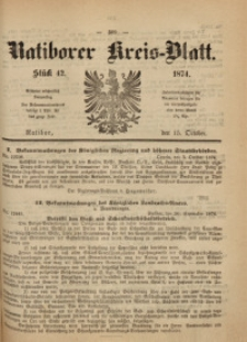 Ratiborer Kreis-Blatt, 1874, Stück 42