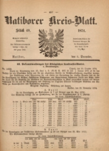 Ratiborer Kreis-Blatt, 1874, Stück 49
