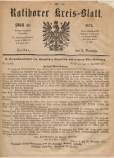 Ratiborer Kreis-Blatt, 1877, Stück 49