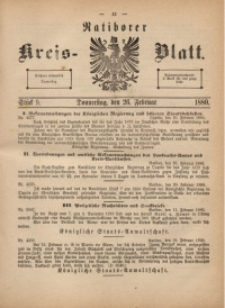 Ratiborer Kreis-Blatt, 1880, Stück 9