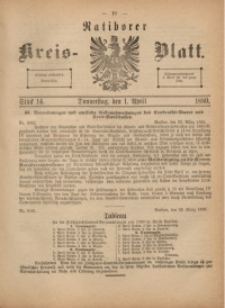 Ratiborer Kreis-Blatt, 1880, Stück 14