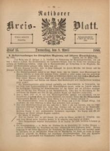 Ratiborer Kreis-Blatt, 1880, Stück 15
