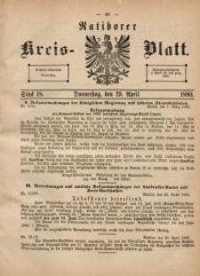 Ratiborer Kreis-Blatt, 1880, Stück 18