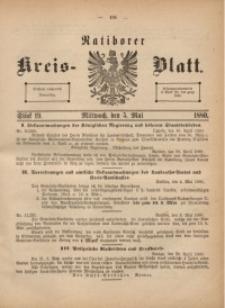 Ratiborer Kreis-Blatt, 1880, Stück 19