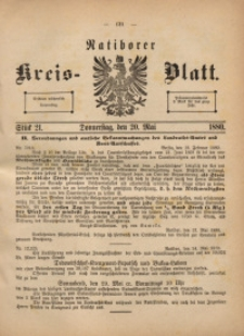 Ratiborer Kreis-Blatt, 1880, Stück 21
