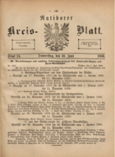 Ratiborer Kreis-Blatt, 1880, Stück 24