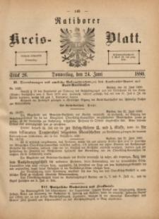 Ratiborer Kreis-Blatt, 1880, Stück 26