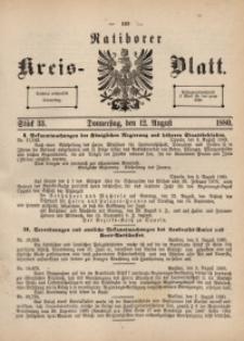 Ratiborer Kreis-Blatt, 1880, Stück 33