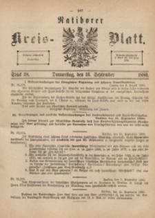 Ratiborer Kreis-Blatt, 1880, Stück 38