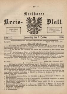 Ratiborer Kreis-Blatt, 1880, Stück 41