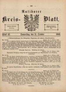 Ratiborer Kreis-Blatt, 1880, Stück 43