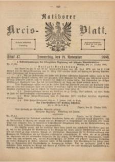 Ratiborer Kreis-Blatt, 1880, Stück 47