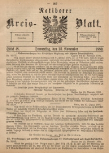 Ratiborer Kreis-Blatt, 1880, Stück 48