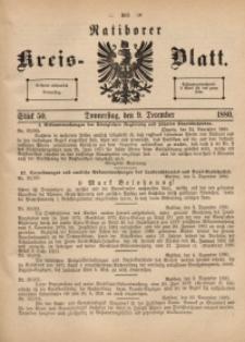 Ratiborer Kreis-Blatt, 1880, Stück 50