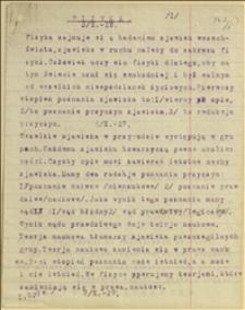 Materiały Witolda Regera z wykładów z fizyki