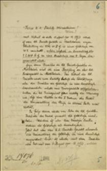 Odwołanie Tadeusza Regera od wyroku Sądu Powiatowego w Nowym Jiczynie z dnia 11.04.1901 r. w sprawie kary 40 koron względnie 4 dni aresztu